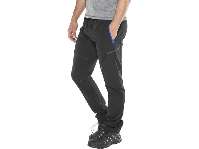 Meru M's Hawea Technical Pants Caviar/Methyl Blue